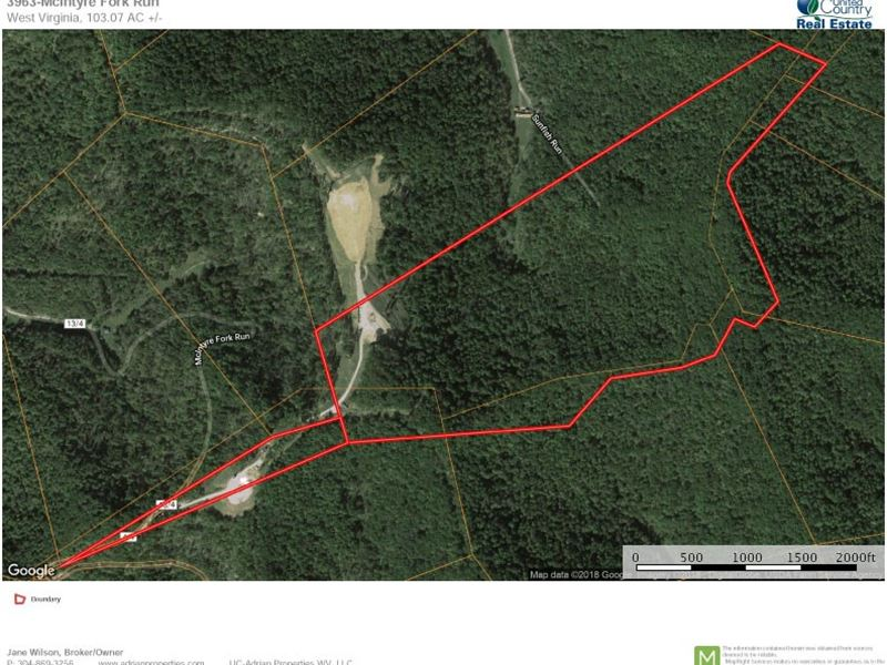 Perfect Land For Hunting Recreation : Jacksonburg : Tyler County : West Virginia