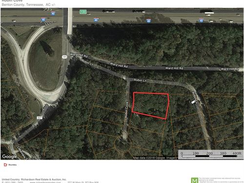 Wooded Lot Interstate I-40 & TN : Holladay : Benton County : Tennessee