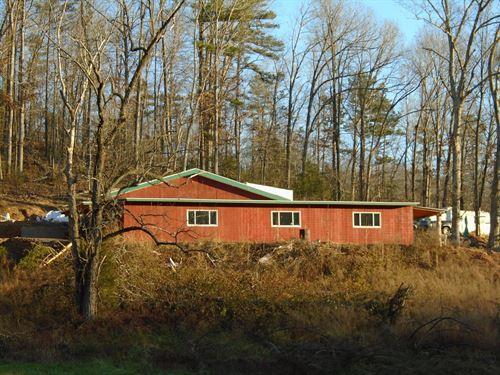 Cabin Started On 103 Missouri Acres : Annapolis : Iron County : Missouri