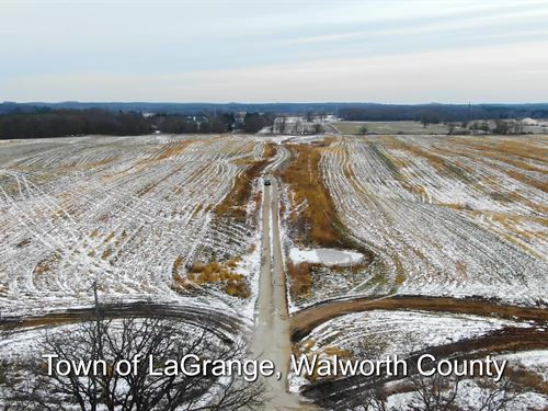 60 Ac Prime Farmland, Walworth Cty : Little Prairie : Walworth County : Wisconsin