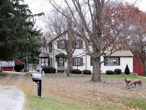 100 Acre Organic Farm, 4-Bd Home : Watertown : Dodge County : Wisconsin