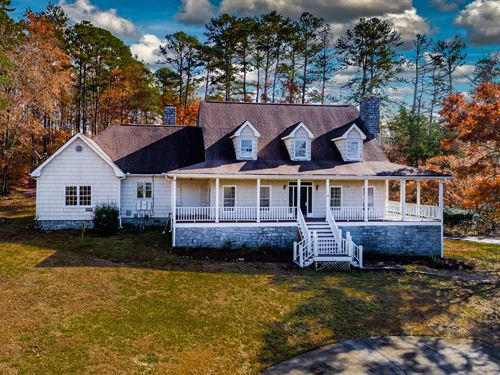Cape Cod Style Home On 4.78 Acres : Snellville : Gwinnett County : Georgia
