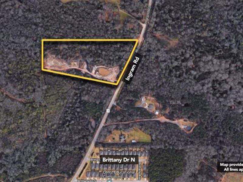 Land, Approx 11.14Ac Lot : Elmore : Elmore County : Alabama