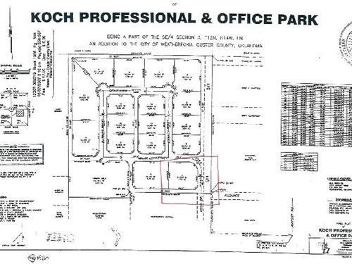 Commercial Lot, Weatherford, OK : Weatherford : Custer County : Oklahoma