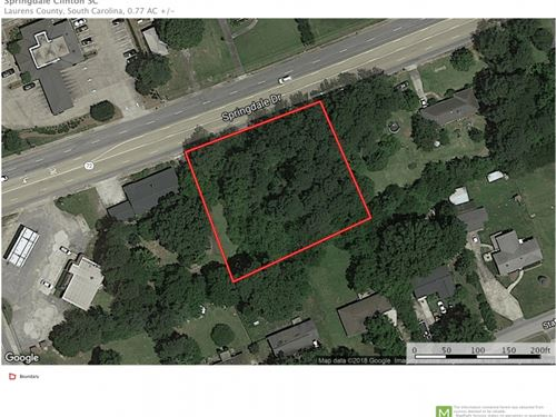 Residential Lot Springdale Drive : Clinton : Laurens County : South Carolina