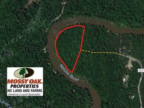 9.9 Acres of River Front Hunting : Goldsboro : Wayne County : North Carolina