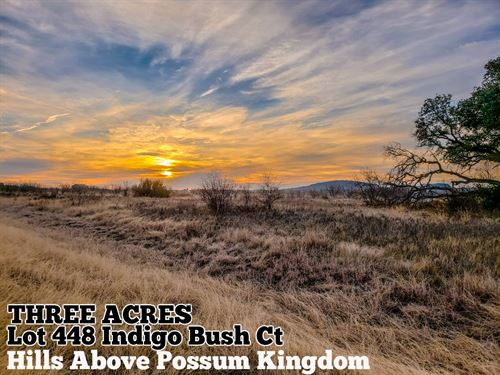 3.01 Acres In Palo Pinto County : Graford : Palo Pinto County : Texas