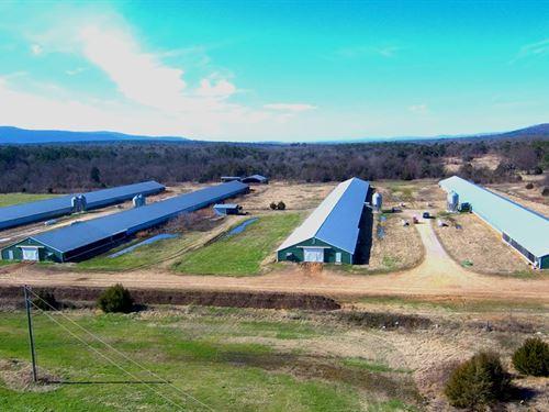 Arkansas Broiler Farm Has Four 2002 : Hartford : Sebastian County : Arkansas