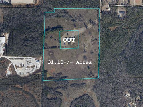 31 Acres In Troup County : Hogansville : Troup County : Georgia