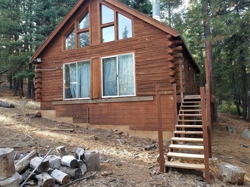 Mountain Retreat Log Cabin : Alturas : Modoc County : California