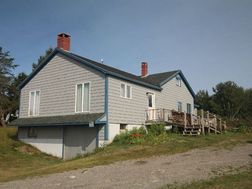Ocean View Home Acreage, Maine Real : Machiasport : Washington County : Maine
