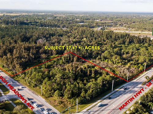 Prime 27.47 Acre Development Site : Palm City : Martin County : Florida