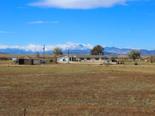 Longmont Acreage And Views : Longmont : Boulder County : Colorado