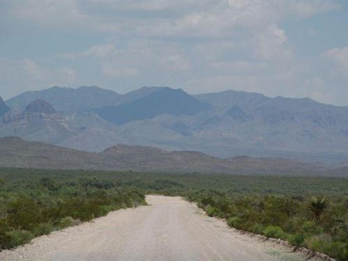 120 Acs Ranching Land Only $598 Ac : Sierra Blanca : Hudspeth County : Texas