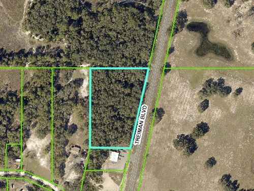 3.9 Acres With Large Road Frontage : Webster : Hernando County : Florida