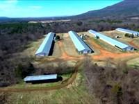 Broiler Farm, 4 Houses, 70 Acres : Hartford : Sebastian County : Arkansas