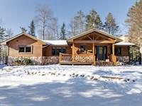 Spectacular Northwoods Lake Home : Minocqua : Oneida County : Wisconsin