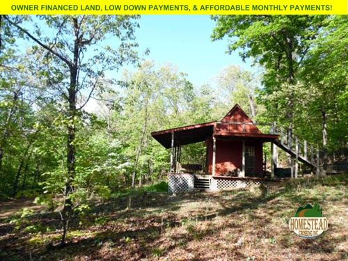 Cozy Cabin On Unrestricted Land : Williford : Sharp County : Arkansas