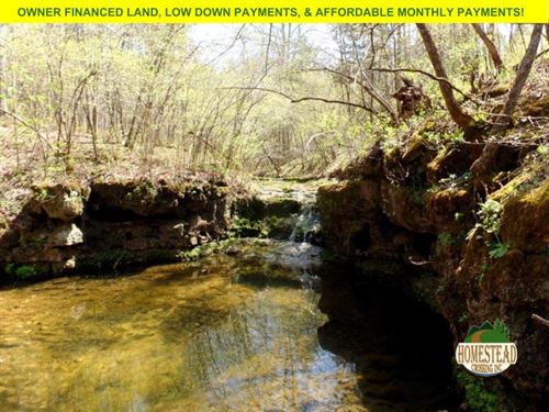 2,000 Feet Creek Frontage And More : Houston : Texas County : Missouri