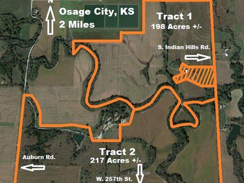 Land to Sell Auction Osage County : Osage City : Osage County : Kansas
