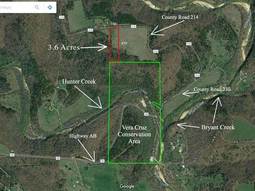 3.6 Acres On Vera Cruz Conservation : Ava : Douglas County : Missouri