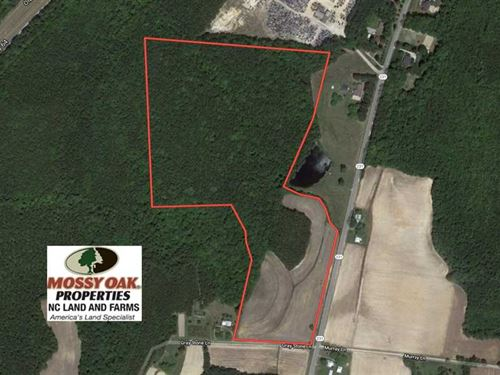46.3 Acres of Farm And Timber Land : Spring Hope : Nash County : North Carolina