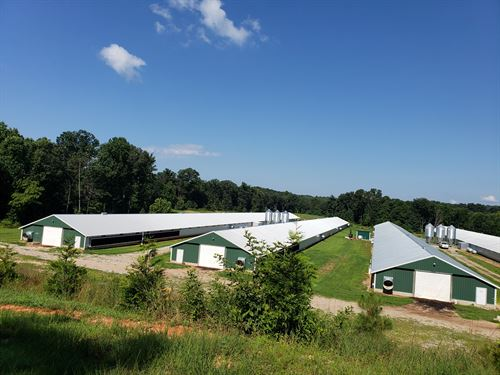 4 New Poultry Broiler House's : Dawsonville : Dawson County : Georgia