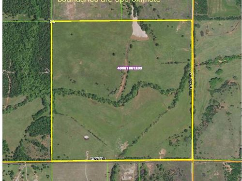 Tract 3 160 Acres Real Estate : Chandler : Lincoln County : Oklahoma