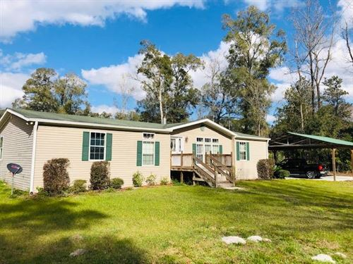 Nice 3/2 Dwmh On 4.85 Ac 777147 : Old Town : Dixie County : Florida
