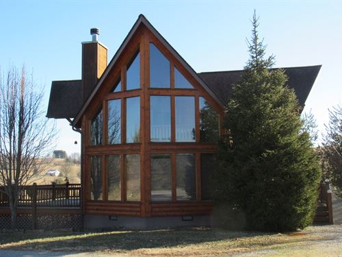 Well-Appointed Log Home Alleghany : Sparta : Alleghany County : North Carolina