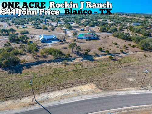 1.03 Acres In Blanco County : Blanco : Texas