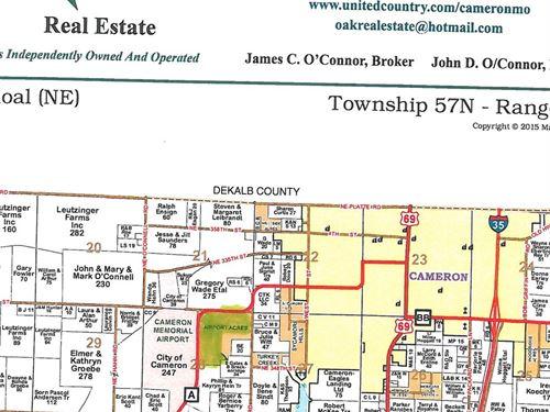 Cameron MO 85 Acres For Sale : Cameron : Clinton County : Missouri