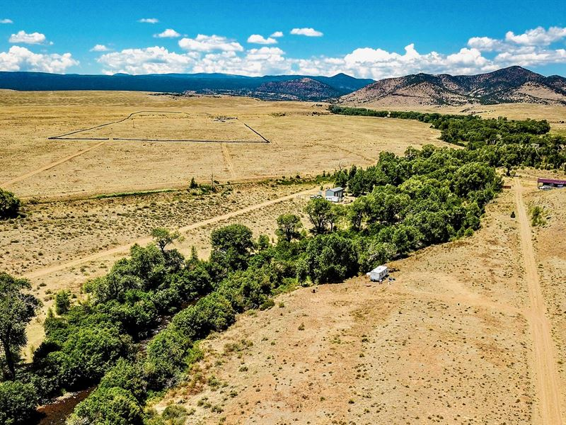 River Front Lot By National Forest : Capulin : Conejos County : Colorado
