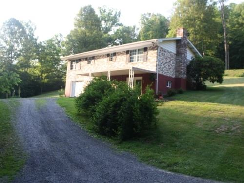 Very Private One Story Brick Ranch : Sutton : Braxton County : West Virginia