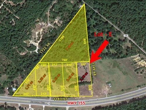 Commercial Acreage For Sale Texas : Flint : Smith County : Texas