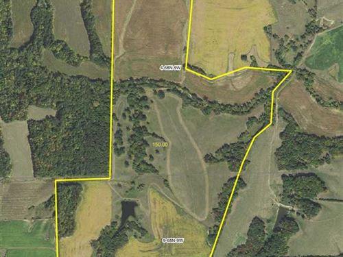149.53 Acres Farmland in Van Buren : Keosauqua : Van Buren County : Iowa