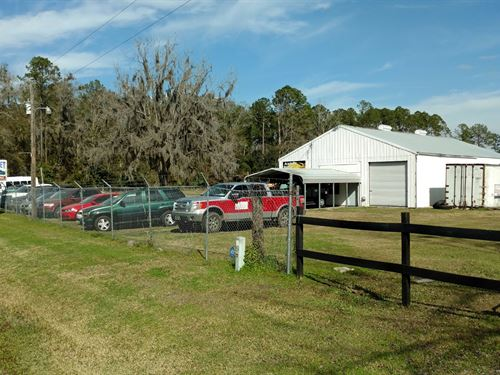 7.4 Acres Fenced Commercial : Lake City : Columbia County : Florida