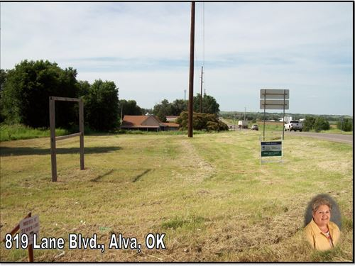 Vacant Commercial, Industrial Lots : Alva : Woods County : Oklahoma