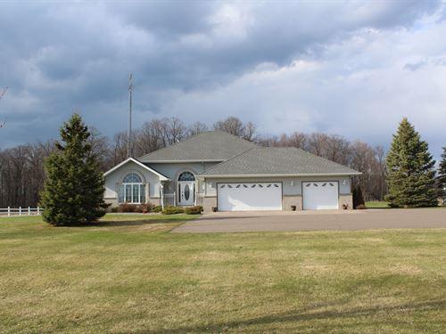 4Br/4Ba Country Home 5 Acres Onamia : Onamia : Mille Lacs County : Minnesota