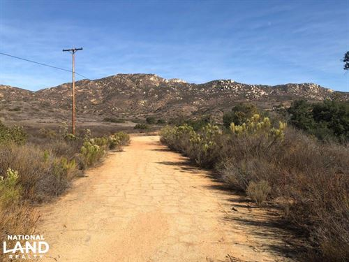 Jamul Recreational Homesite : Jamul : San Diego County : California