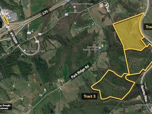 66.4 Ac, Conveniently Located : Sparta : Gallatin County : Kentucky