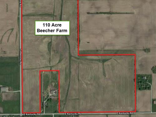 110 Acre Beecher Farm : Beecher : Will County : Illinois