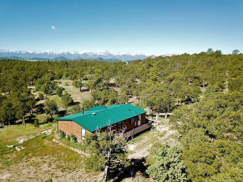 Log-Sided Colorado Mountain : Cotopaxi : Fremont County : Colorado