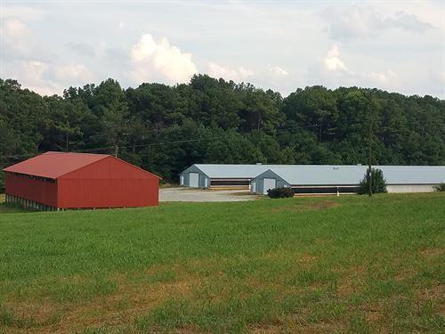 6 House Poultry Farm W/Log Home : Ellijay : Gilmer County : Georgia