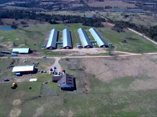 Turkey Farm With 4, 2008 Age Hses : Ozark : Franklin County : Arkansas
