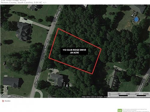 Residential Lot, Club Ridge Dr : Pickens : Greenville County : South Carolina