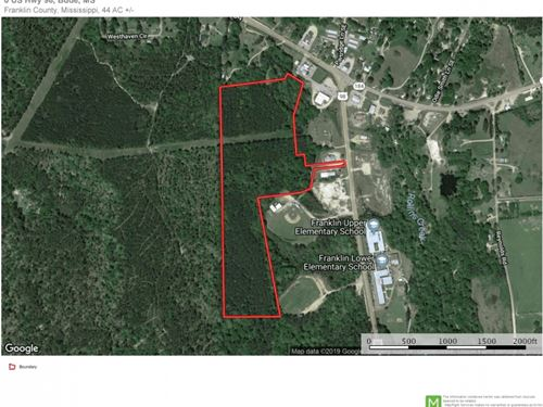44 Acres South MS Land For Sale Bud : Bude : Franklin County : Mississippi
