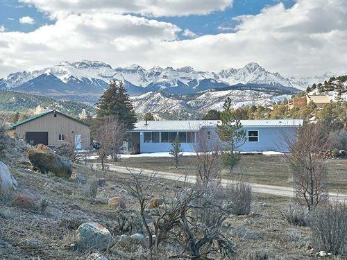 Home Near River Ridgway, Colorado : Ridgway : Ouray County : Colorado