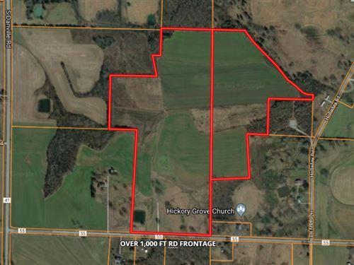 85 Acres Row Cropland/Pasture : Danville : Morgan County : Alabama