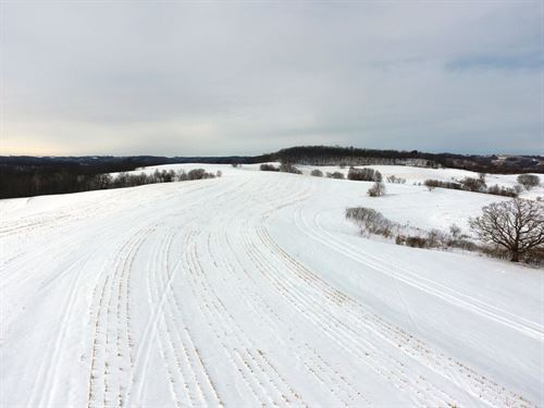 Ag Land With Some Woods : Prairie Du Chien : Crawford County : Wisconsin